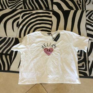 Dolls Kill Delias heart Tee size 3x New